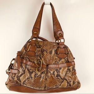 Jessica Simpson Faux Leather & Snakeskin Handbag